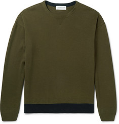 Tomorrowland Contrast-Trimmed Cotton Sweater