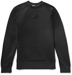 Y-3 Printed Loopback Cotton-Jersey Sweatshirt