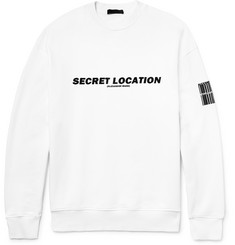 Alexander Wang Printed Fleece-Back Cotton-Jersey Sweatshirt