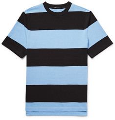 Alexander Wang T by Alexander Wang Striped Cotton-Jersey T-Shirt