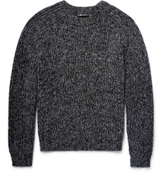 Alexander Wang Ribbed Mélange Cotton-Blend Sweater