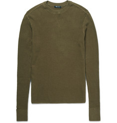 Alexander Wang T by Alexander Wang Waffle-Knit Cotton Sweater