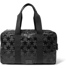 Valentino Leather-Trimmed Star and Camouflage-Patterned Canvas Holdall