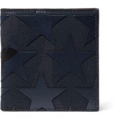 Valentino - Star-Appliquéd Canvas And Leather Billfold Wallet