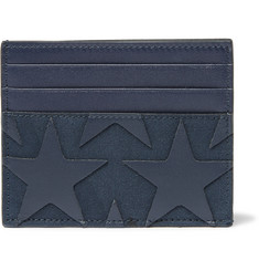 Valentino Star-Appliquéd Canvas and Leather Cardholder