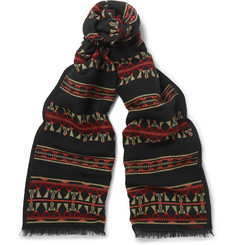Valentino - Wool and Silk-Blend Scarf