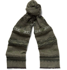 Valentino Printed Double-Faced Knitted Scarf