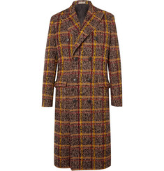 Bottega Veneta Double-Breasted Checked Wool-Blend Coat