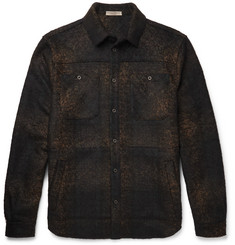 Bottega Veneta Slim-Fit Checked Wool-Blend Flannel Overshirt