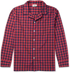 Sleepy Jones Henry Checked Washed-Cotton Pyjama Shirt