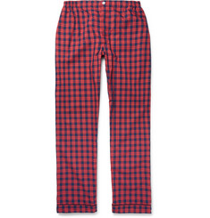Sleepy Jones Marcel Checked Washed-Cotton Pyjama Trousers