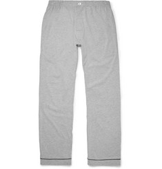 Sleepy Jones - Marcel Mélange Cotton-Blend Jersey Pyjama Trousers