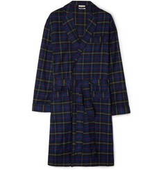 Sleepy Jones Adams Checked Cotton-Flannel Robe