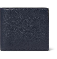 Smythson Burlington Pebble-Grain Leather Billfold Wallet