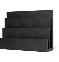 Smythson - Grosvenor Full-Grain Leather  Letter Rack