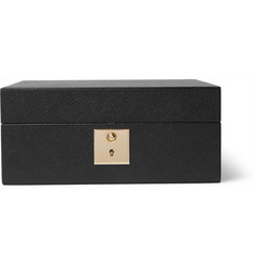 Smythson Panama Cross-Grain Leather Watch Box