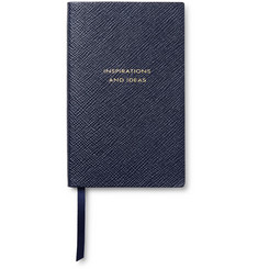 Smythson - Panama Inspirations and Ideas Cross-Grain Leather Notebook