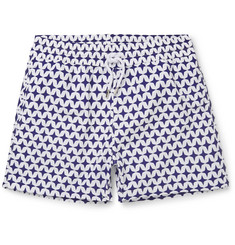 Frescobol Carioca Arpoador Short-Length Printed Swim Shorts