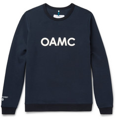 OAMC - Leather-Appliquéd Cotton-Blend Jersey Sweatshirt