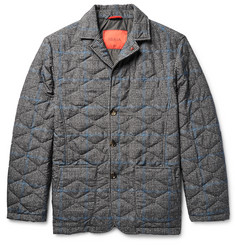Isaia Slim-Fit Water-Resistant Prince of Wales Checked Shell Jacket
