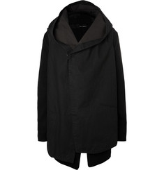 Isabel Benenato Hooded Convertible Cotton-Twill Coat