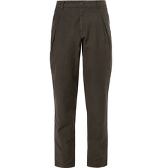Isabel Benenato Tapered Cotton-Twill Trousers