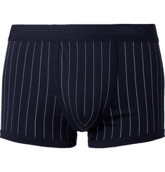 Dolce & Gabbana Pinstriped Cotton Boxer Briefs