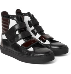 Raf Simons - Colour-Block Leather High-Top Sneakers
