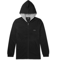 Hugo Boss Stretch-Cotton Jersey Zip-Up Hoodie