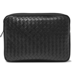 Bottega Veneta - Canvas-Trimmed Intrecciato Leather Pouch