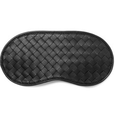 Bottega Veneta - Terry-Backed Intrecciato Leather Eye Mask