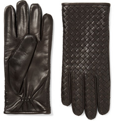 Bottega Veneta - Cashmere-Lined Intrecciato Leather Gloves