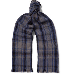 Loro Piana Checked Baby Cashmere Scarf