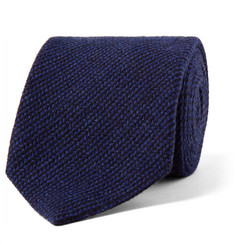 Loro Piana 8cm Striped Baby Cashmere, Wool and Silk-Blend Tie