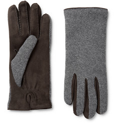 Loro Piana Gregory Cashmere and Suede Gloves