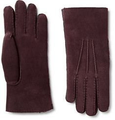 Loro Piana Water-Resistant Shearling Gloves