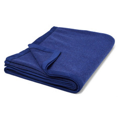 Loro Piana Suede-Trimmed Baby Cashmere-Blend Travel Blanket
