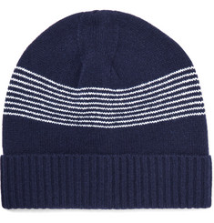 A.P.C. Derek Striped Wool Beanie
