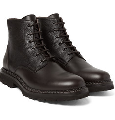 Brunello Cucinelli - Panelled Leather Boots