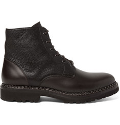 Brunello Cucinelli Panelled Leather Boots