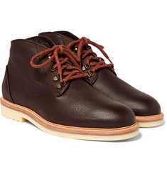 Loro Piana - Aspen Walk Shearling-Lined Full-Grain Leather Boots