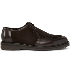 Ermenegildo Zegna Leather-Panelled Suede Derby Shoes