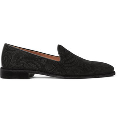 Etro Paisley-Patterned Velvet Loafers