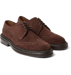 Etro - Leather-Trimmed Suede Brogues