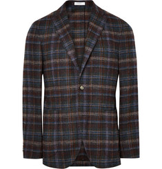 Boglioli K-Jacket Slim-Fit Checked Alpaca-Blend Blazer