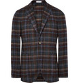 Boglioli - K-Jacket Slim-Fit Checked Alpaca-Blend Blazer