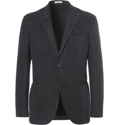 Boglioli Charcoal Slim-Fit Cotton-Moleskin Blazer