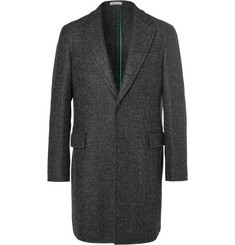 Boglioli Grey Speck Herringbone Virgin Wool-Blend Coat