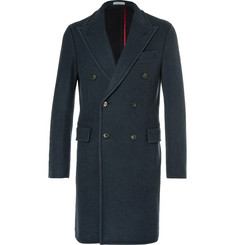 Boglioli - Blue Double-Breasted Wool Coat