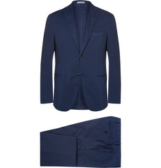Boglioli Blue Slim-Fit Stretch-Cotton Twill Suit
